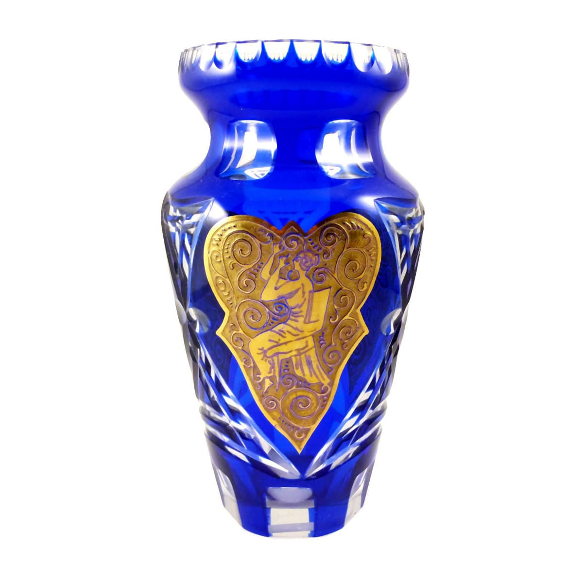 Vase-mit-vergoldeten-ornamentalen-Figurendekor-J-Oertel-in-Haida-um-1925