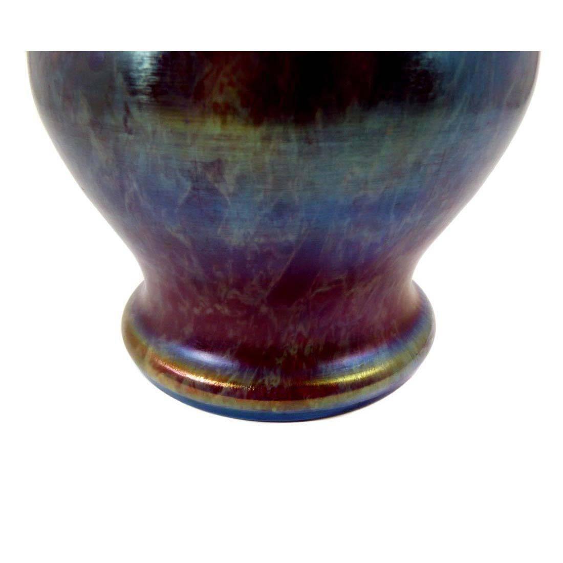 franz welz vase art noveau with metal mount franz welz. Black Bedroom Furniture Sets. Home Design Ideas