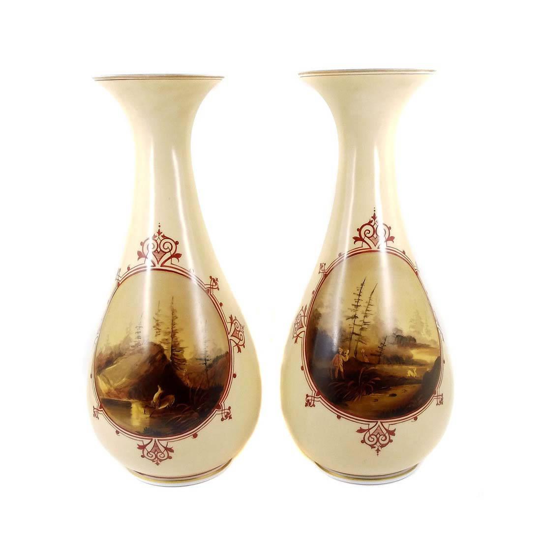 Gräflich Harrach´sche Glasfabrik Neuwelt - Vase, milk glass, opal