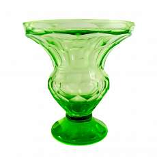 Heavy baluster vase from annagreen glass, Josef Riedel in Polaun around 1915-20