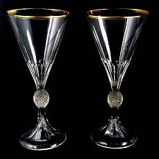 1. from 2. Liqueur glass by brilliant cut, design A. Gerlach, Josephine