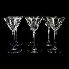 6 stem glasses of Peill & Putzler, series Odin to 1950-60