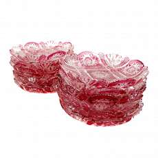 1. from 12. Small biscuit dish of crystal with overflow and decorative decoratio