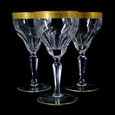 1st of 3rd stem glass with oroplastic decoration, Oertel, Salome series