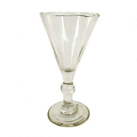 1  Goblet with optically ribbed cuppa, France or Belgium, beg. 19th century