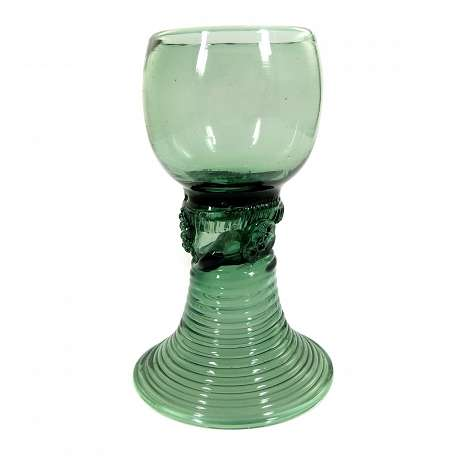 1  Romans of green glass with laid berries, German, end 18.Jh.