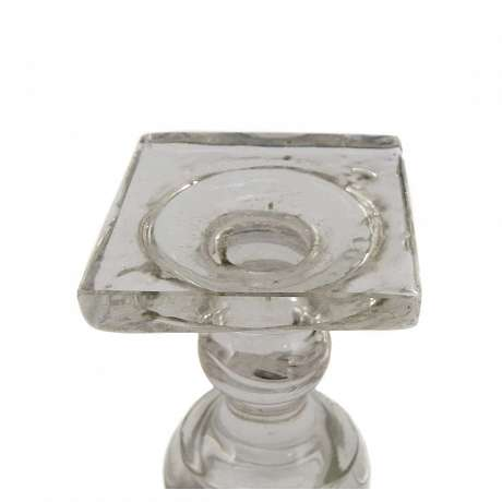 4  Wine glass with square plinth, the end of the 18th century